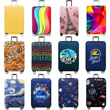 """18-32"""" Luggage Protector Elastic Printed Suitcase Cover Dust-proof Anti Scratch"""