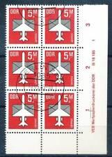 614362) DDR ER 6erBlock Nr.2967 gest. mit Druckvermerk Flugpost