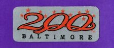 """BALTIMORE ORIOLES 1997 """"BALTIMORE 200"""" GRAY JERSEY MLB PATCH"""
