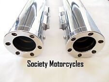 Road King Harley Davidson Chrome Revolver Slip-On Mufflers Exhaust Pipes Touring