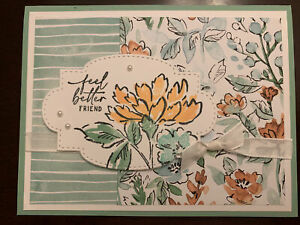 Stampin Up Hand Penned Feel Better Card Kit