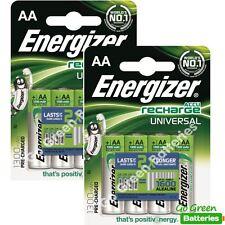8 X Pilas Recargables Energizer Aa 1300 mAh UNIVERSAL NiMH HR06 Pre Cargado