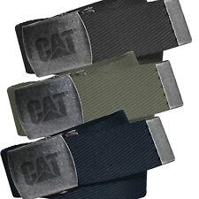 Caterpillar Belt Men Red Rocket Canvas Webbing Belts with Logo CAT Buckle