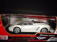Lamborghini Concept S - White, Motormax 1/24 ,Classic  Model Car
