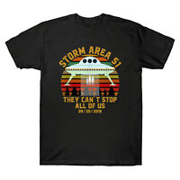 Storm Area 51 They Can't Stop All of Us Alien Vintage Men's T-Shirt Retro Tee