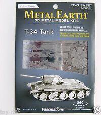 Terra in metallo-RUSSO T-34 TANK - 3D METAL MODEL KIT-NUOVISSIMO E SIGILLATO!!