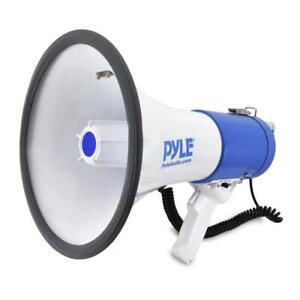 Pyle Pro 50 Watt 1200 Yard Sound Range Portable Bullhorn Megaphone Speaker, Blue