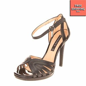 RRP €115 SILVANA Ankle Strap Sandals Size 35 UK 2 US 5 Cut Out Made in Italy