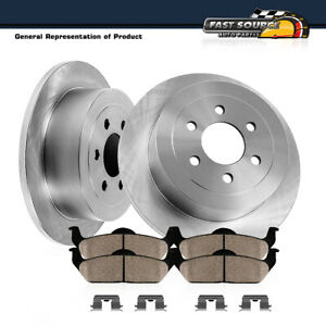 Rear Brake Rotors & Ceramic Pads For Mobility Ventures MV-1 VPG MV-1