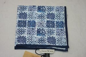 Strong Suit Clothing NavyTile Pocket Square $50
