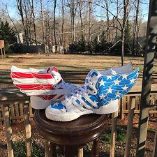 US Size 6.5 Adidas Jeremy Scott Wings 2.0 US FLAG Stars n Strips V24619 RARE!!!