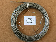 3mm x 5m Stainless Steel Wire Rope  7x7  49 Strand 18/8 304 INOX Surgical