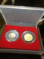 More details for 1912 george v gold half sovereign & silvermaundy 3 pence set in presentation box