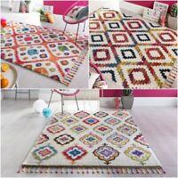 Geometric Morrocan Style Design Menara Multi Colours Soft Thick Rug Home Carpet