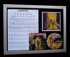IRON MAIDEN Running Free LIMITED CD FRAMED DISPLAY+EXPRESS GLOBAL SHIPPING !!