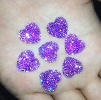 DIY 20PCS Purple Resin Heart flatback Scrapbooking for phone/wedding/craft  J 6