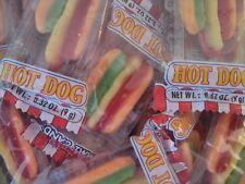 30/0.32oz Gummi Candy Hot Dog Snack,Individually Wrap,Gluten Free,e.Frutti Gummy
