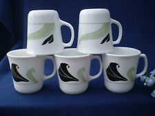 Corelle Dishes Black Orchid White Flared Suprema Cups Set Of 5