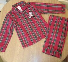 Disney Store Mickey Mouse Tartan Christmas Pyjamas 5-6 Years