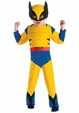 DELUXE TODDLER X-MEN WOLVERINE COSTUME WITH MUSCLES - 3T-4T DISGUISE
