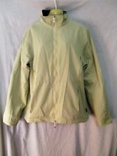 Ladies BARBOUR FITTED MICROFIBRE JACKET beige zip up sz 14  GREAT cond LOVELY