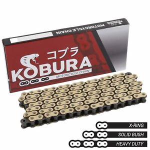 Kobura 428x116 HD Rivet Link Gold X-Ring Motorcycle Chain Benelli TNT 125 17-20