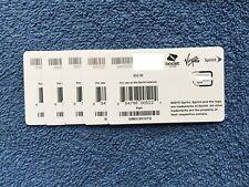 Sprint Boost Virgin Nano Sim Card Simolw416Tq - Lot of 5