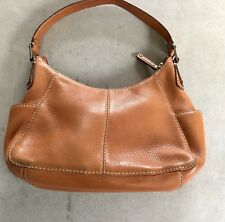 fossil brown leather shoulder bag purse with zip closure