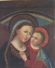 schönes altes Marienbild mit Jesuskind - Öl auf Leinwand - um 1920