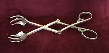 """ANTIQUE STERLING SILVER LEBKUECHER  ICE TONGS 7.25"""""""