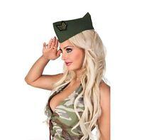 Mujer Ejército Militar Soldado Disfraz Caqui LATERAL Camo Gorra 40s WW2