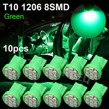 10PCS T10 Vivid Green 3020 8-SMD LED Car Backup Light bulbs 12V W5W 1206 192 168