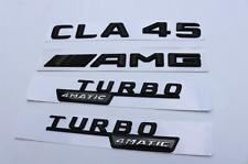 black CLA 45 +AMG + TURBO 4 MATIC Trunk Emblem Badge Sticker for Mercedes Benz