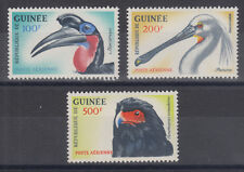 Guinea Sc C41-C43 MLH. 1962 Air Mail issue depicts birds, complete set, VF