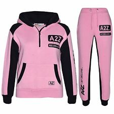 Kids Jogging Suit Boys Girls Designer's Tracksuit Zipped Top Bottom 7-13 Years