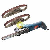 Silverstorm Power File Belt Sander With 12 Sanding Belts 13mm x 457mm Heavy Duty