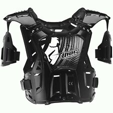 Thor NEW Mx Quadrant Black Roost Guard Chest Protector Motocross Body Armour