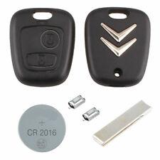 Citroen DIY Repair kit 2 button Replacement Car Key Case Fob with HU83 Blade