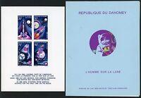 Space Raumfahrt 1970 Dahomey Mondlandung Block 17 Deluxe Folder MNH/1072