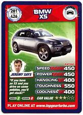 BMW XS #281 Top Gear Turbo Challenge Trade Card (C362)