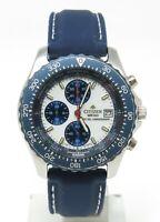 Orologio Citizen promaster chrono clock 0610-H03281 K white dial watch sub 10bar