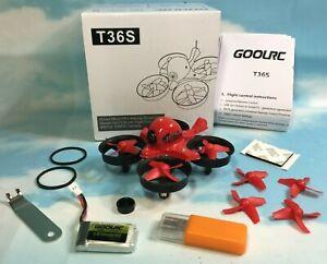 GoolRC T36S 5.8G CMOS 800TVL 48CH 25mW Micro FPV F3 FC Coreless Racing Drone BNF