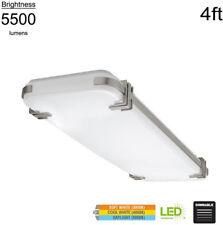 Mission Style 4 ft. Rectangular Flushmount Lighting Nickel LED Color Changing