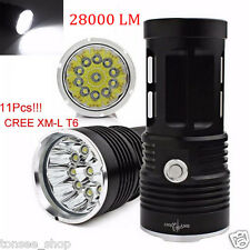 28000LM 4 x 18650 Lampe 11 x CREE XM-L T6 LED Hunting Glanz Taschenlampe Fackel