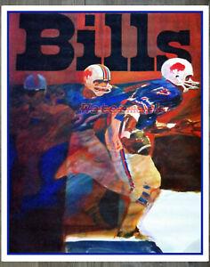 NFL Buffalo Bills Color ART Poster Print 8 X 10 REPRINT Photo Picture