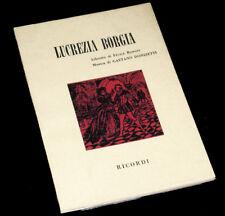 Lucrezia Borgia livret seul Romani opéra Donizetti 1966