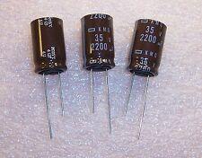 QTY (100) 2200uf 35V 105' RADIAL ELECTROLYTIC EKMQ350ELL222ML25N NCC ROHS