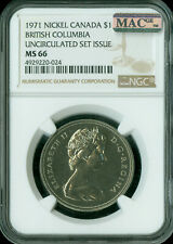 1971 CANADA $1 DOLLAR NGC MAC MS66 PQ  SPOTLESS  *