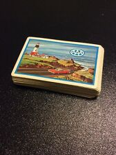 AAA Brown Bigelow Playing Card Deck Complete 52 Light House Ocean Red Car