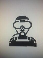 Scuba Diver Diving Guy Vinyl Decal Sticker
